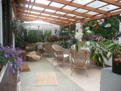 hundepension birkenau, Hause und Garten